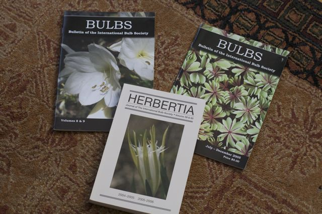 Mailings from the International Bulb Society