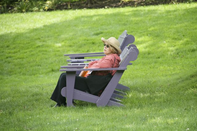 Adirondack chairs at Chanticleer