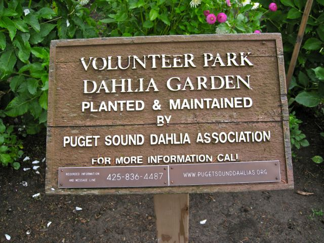 Sign at Volunteer Park, Seattle