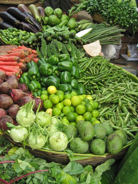 Vegetables at Lake Market, Calcutta