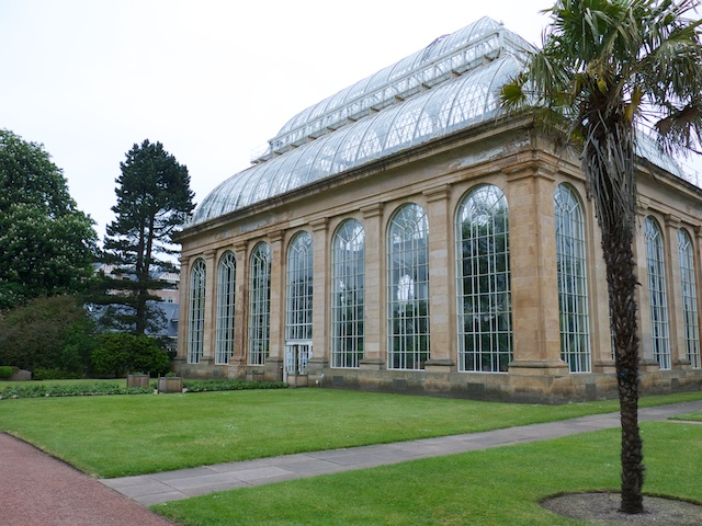 The Temperate Palm House is 72 feet high and is only one of 25 glass houses on site.  It dates back to 1862.